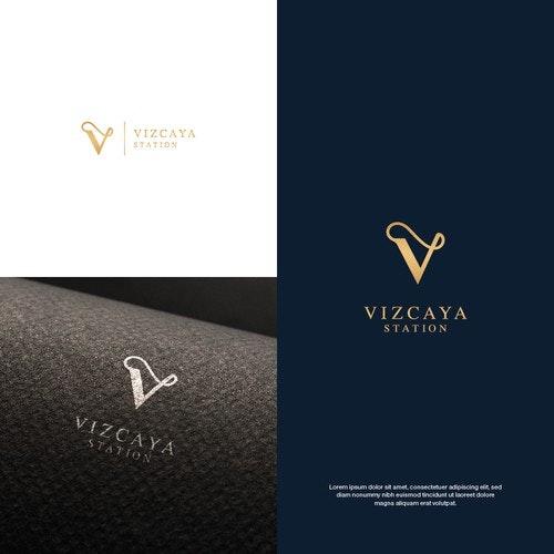V logo with the title 'Logo for Vizcaya Station'