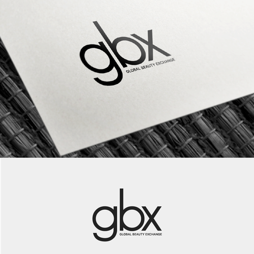 Exchange logo with the title 'A letter mark logo for a cosmetic company.'