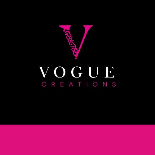 Pattern logo with the title 'Logo for Vogue Creations'