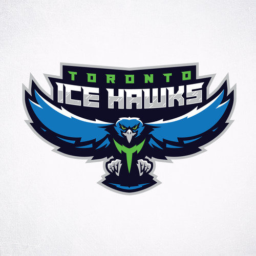 Sports logo with the title 'Toronto Ice Hawks'