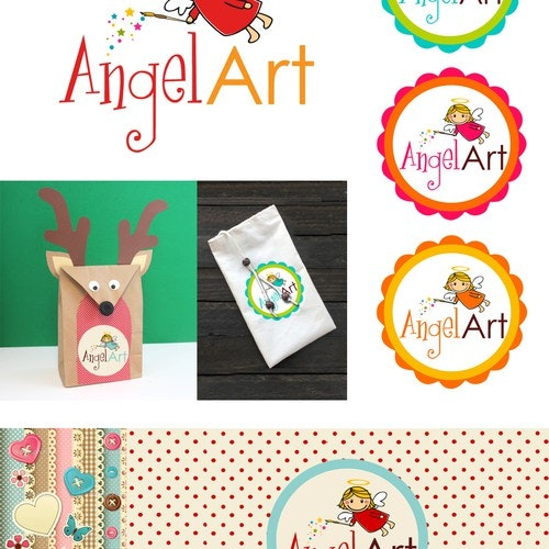 Angel logo with the title 'Angel Art'
