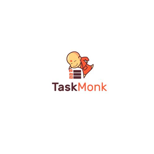 Buddha logo with the title 'taskmonk'