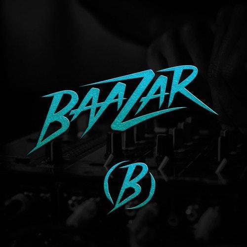 Record label logo with the title 'BAAZAR DJ LOGO'