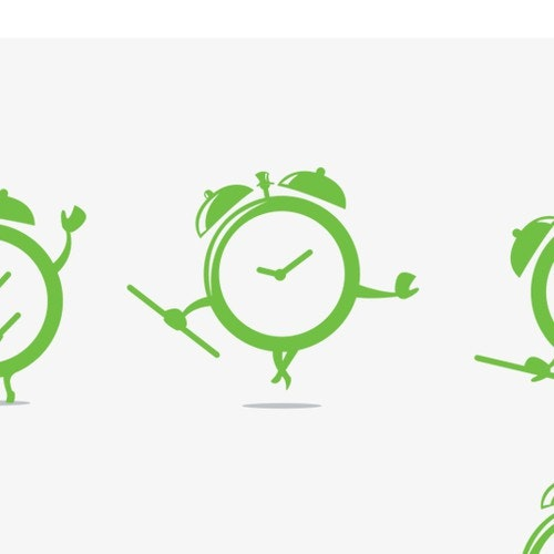 Clock logo with the title 'Design a logo that conveys efficiency & accessibility for TimeTap'