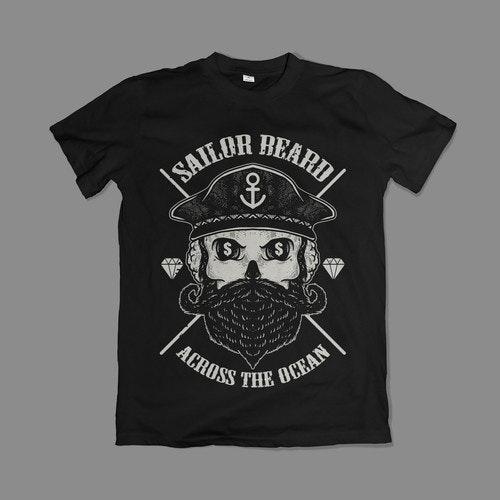 Rock t-shirt with the title 'Sailor Beard t-shirt design'