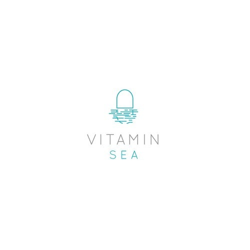 Vitamin logo with the title 'Calm, modern, trendy logo for a water company!'