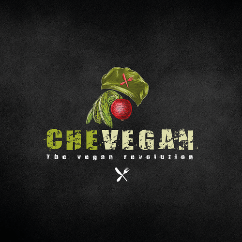 Vegan logo with the title 'logo design for CheVegan'