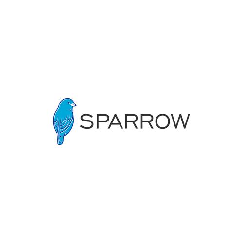 Sparrow logo with the title 'bird logo for sparrow'