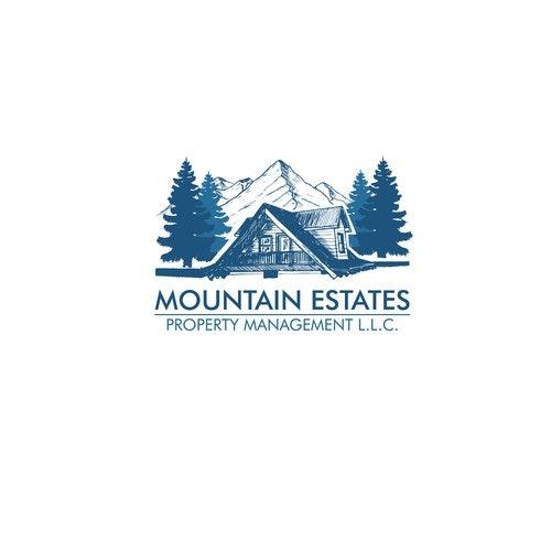 Tree logo with the title 'Mountain Estate logo'
