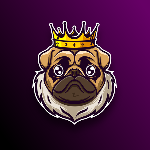 Fun logo with the title 'The Pug'