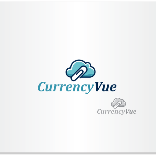 Currency logo with the title 'Simple and clean logo for Cloud services'