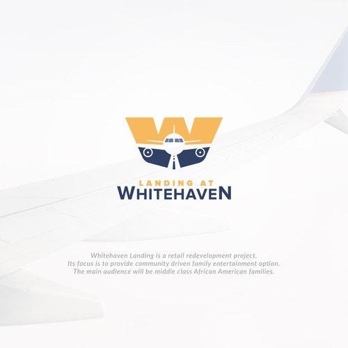 Plane logo with the title 'W landing Plane'