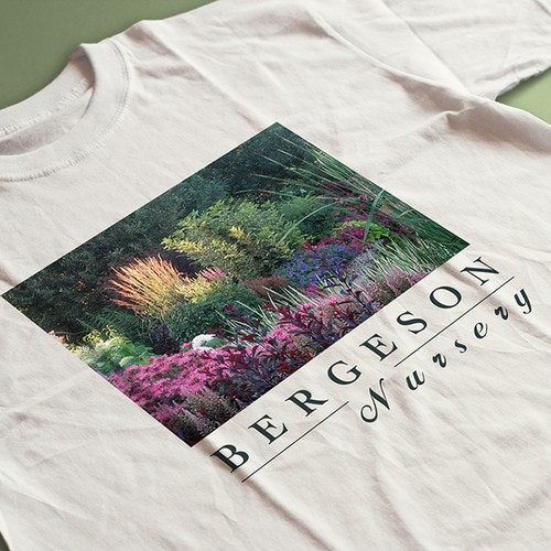 Floral t-shirt with the title 'T shirt for Gardens'