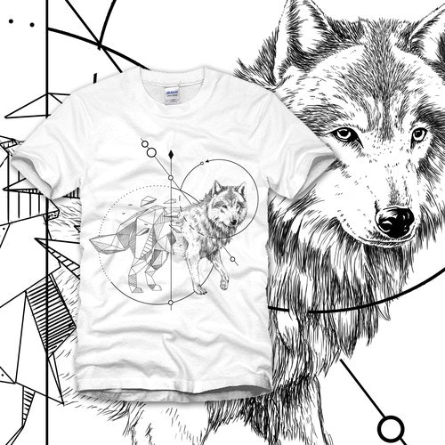 Wolf t-shirt with the title 'wolf'