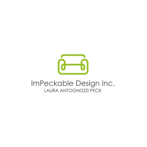 Sofa logo with the title 'Unique, Edgy design for an interior designer!'