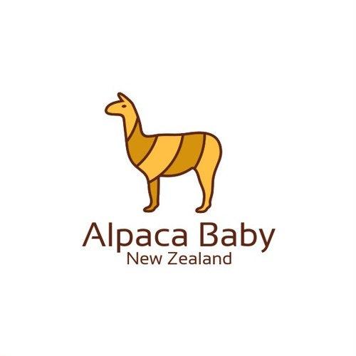 Alpaca logo with the title 'Alpaca baby logo'