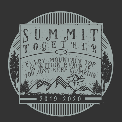 Outdoor t-shirt with the title 'Vintage design for SUMMIT TOGETHER'