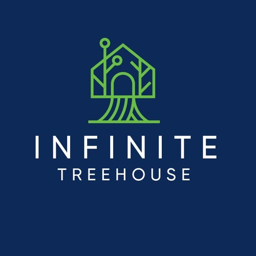 Programmer logo with the title 'Infinite Treehouse Logo'