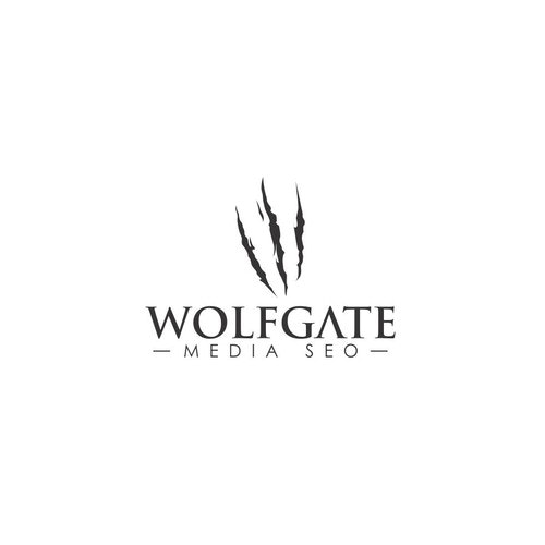 Gate logo with the title 'Wolf Gate Logo Concepts'
