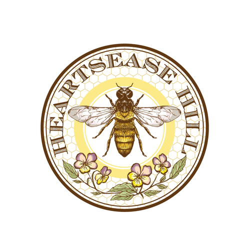 Bee logo with the title 'New logo wanted for Heartsease Hill'