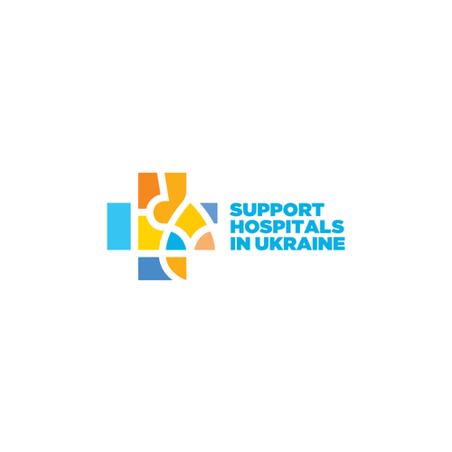 Trident logo with the title 'logo for Support Hospitals in Ukraine'