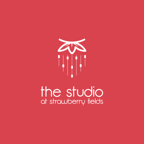 Strawberry logo with the title 'Simple logo for the studio'