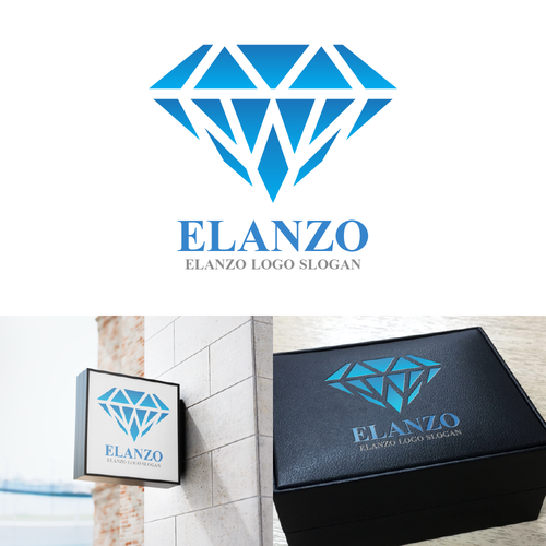 Jewel logo with the title 'Logo designed for a Jewelry company!'