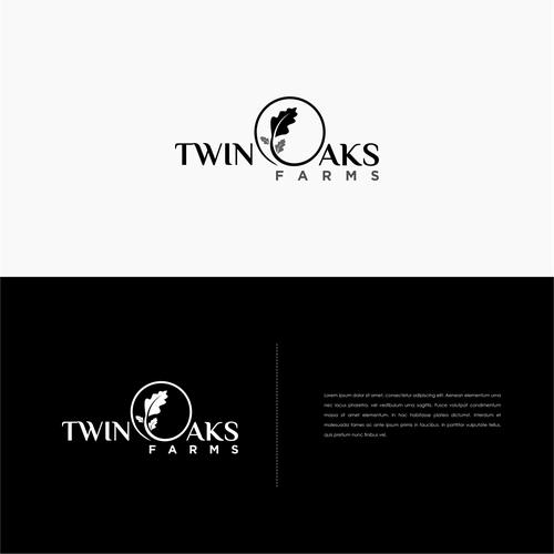 Oak leaf logo with the title 'Simle Logo Concept for Twin Oaks Farms'