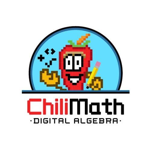 Chili logo with the title 'Logo design ChiliMath '