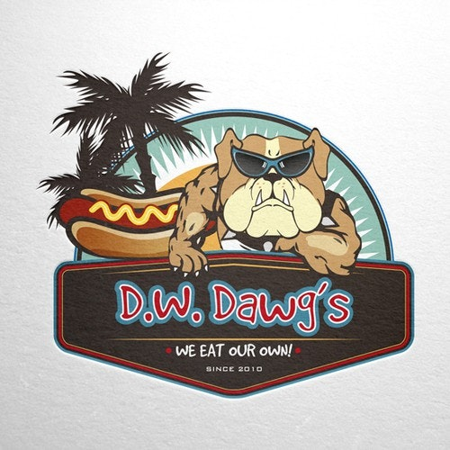 Street food logo with the title 'nostalgic hot dogs, modern approach!'