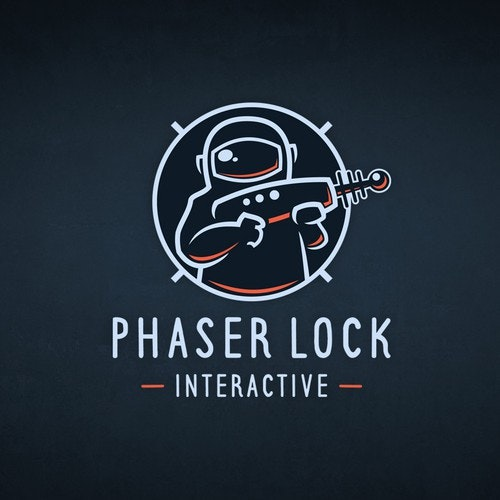 VR logo with the title 'Logo for Virtual Reality Video Game company PHASER LOCK INTERACTIVE'