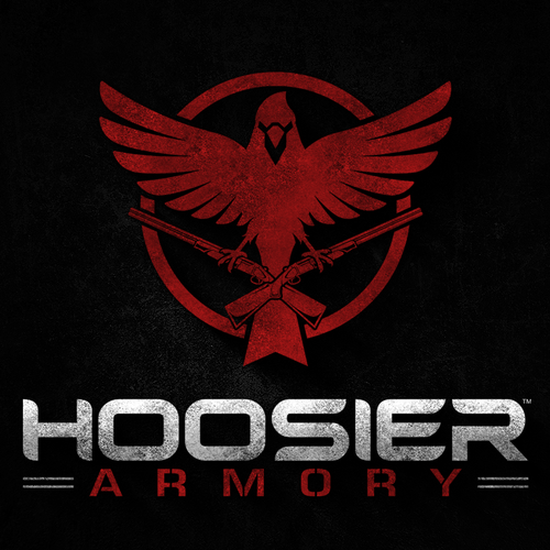 Military logo with the title 'Hoosier Armory'