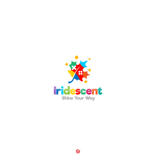 Maple leaf logo with the title 'Iridescent'