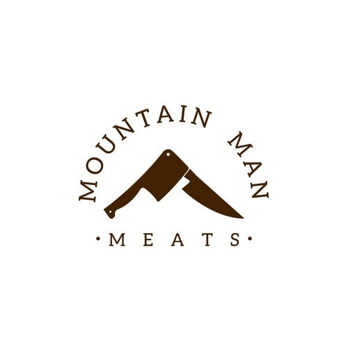 Market logo with the title 'Mountain Man Meats'