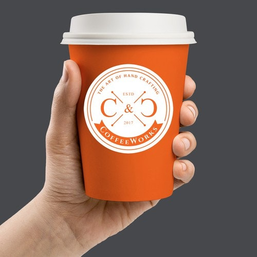 Coffee bean logo with the title 'Logo for C & C Coffee'