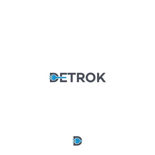 Battery logo with the title 'Detrok'