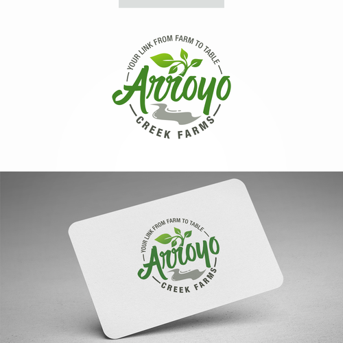 Creek logo with the title 'Arroyo Creek Farms'