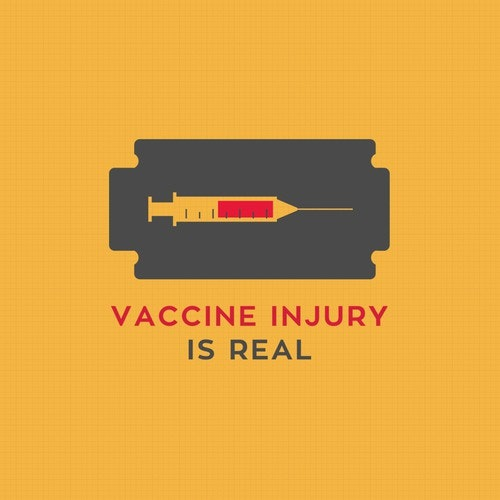 Razor logo with the title 'Vaccine Injury Is Real'