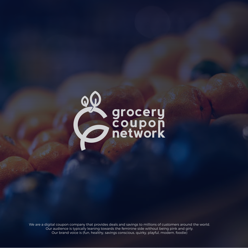 Grocery logo with the title 'grocery coupon network'