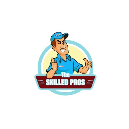 Thumbs up logo with the title 'The Skilled Pros'