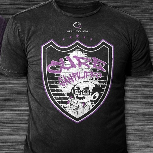Shield t-shirt with the title 'T-shirt Design Concept for Charity'