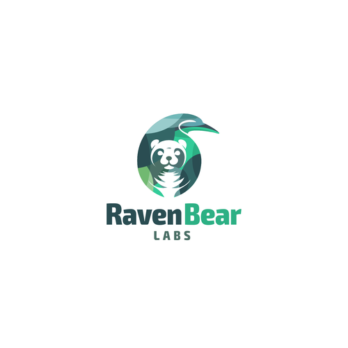 Raven logo with the title 'Proposal Logo for Raven Bear Labs'