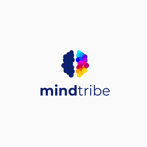 Brain logo with the title 'mind tribe'