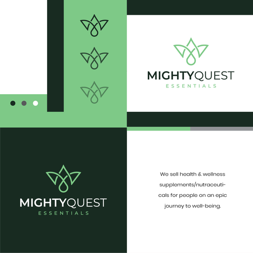 Beauty logo with the title 'MightyQuest'
