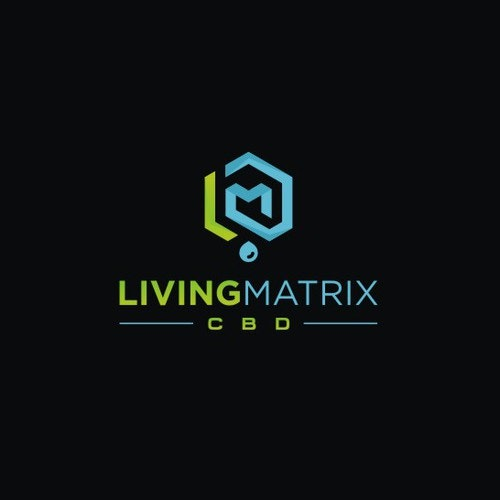 Science logo with the title 'Geometric Modern logo for Living Matrix CBD and cannabis oil '