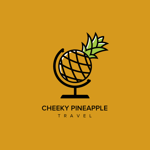 World logo with the title 'Cheeky Pineapple Travel'