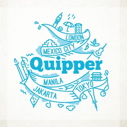 City t-shirt with the title 'T-shirt illustration for Quipper'