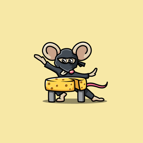 Cheese logo with the title 'Badass Ninja Mouse'