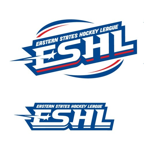Hockey logo with the title 'eastern states hockey league '