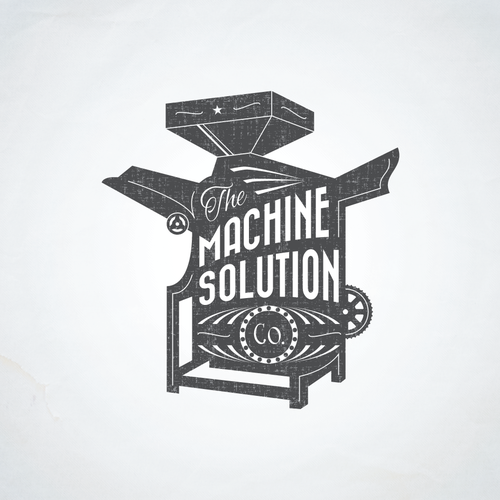 Manufacturing logo with the title 'Vintage illustration capturing food industrial machine'